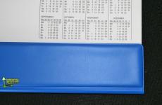Kalenderabdeckleisten Farbig