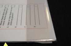 Kalenderlaschen mit Hartfolie verstärkt