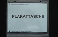 Plakattaschen mit Druckverschluss