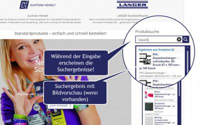 Jetzt neu auf heinelt.de und heinelt.shop – intuitive Vorschlagssuche